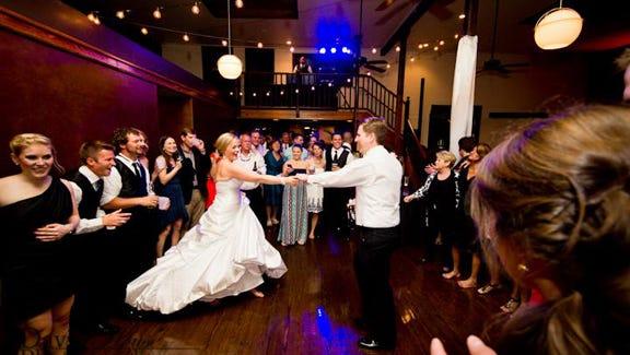 Mackenzie and Hunter Higdon at their wedding reception.