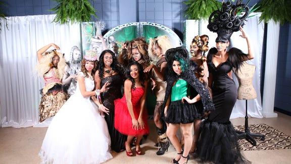 Models strike curious poses at A Night in Oz Avant Garde Hair Gala, held recently at Sanders Beach-Corrine Jones Community Center.