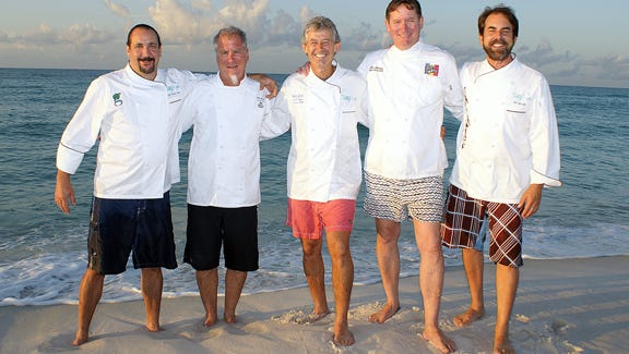 Pensacola celebrity chefs Frank Taylor, Dan Dunn, Gus Silivos, Jim Shirley and Irv Miller will appear at Taste of the Beach on Saturday.