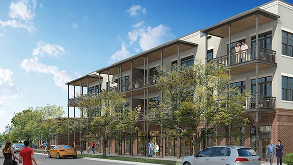 Residential and commercial units will be housed at The Warfield to create a mized-use condo project.
