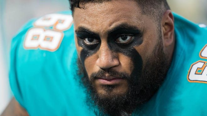 Guard Isaac Asiata was the Dolphins' fifth-round pick in 2017 but appeared in only two games.