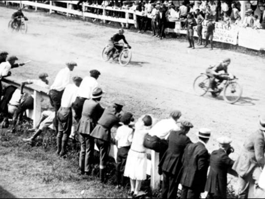 Unidentified Motorcycle Race (Circa 1920 Photo from Library of Congress, Prints and Photographs Division)