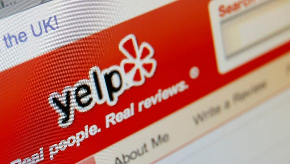 This March 17, 2010, file photo shows the Yelp website