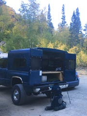 Deployed for camping near trailhead for Piute Pass