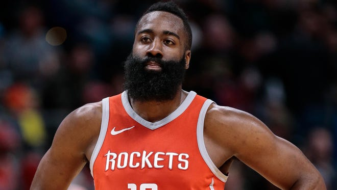 James Harden scored a game-high 41 points for the Rockets.