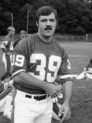 Larry Csonka with the Giants in July 1976.