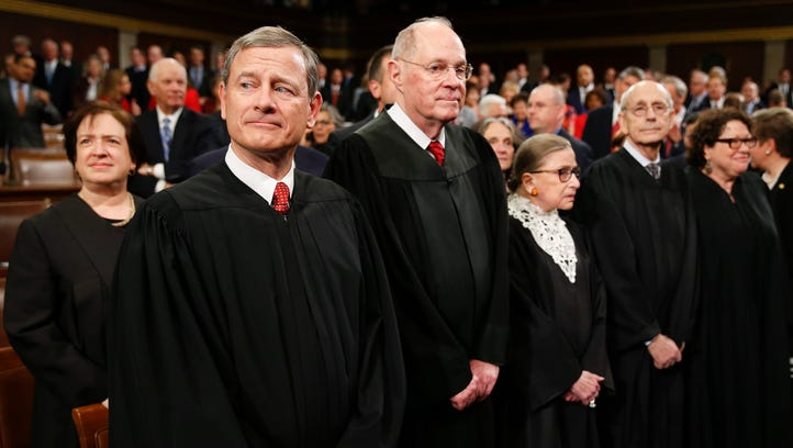 Chief Justice John Roberts attends President Obama's