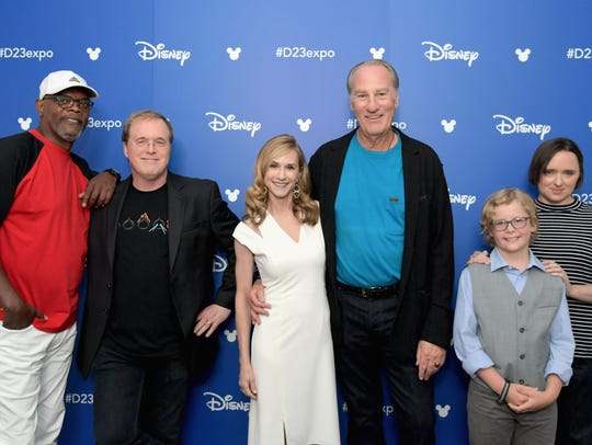 Actor Samuel L. Jackson, from left, director Brad Bird,
