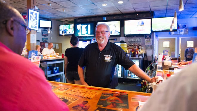 Carl Conley of Greece has worked behind the same bar in Rochester for almost 43 years.
