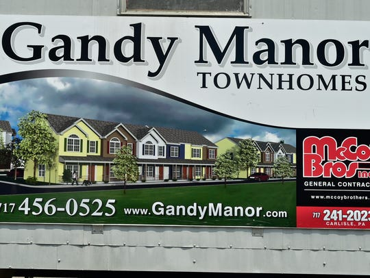 Gandy Manor Townhomes are under construction, as seen