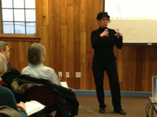 Buffy Andrews shares her social media expertise Monday at Paul Smith Library.