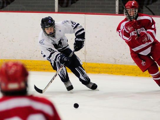 Marysville hockey player Trevor Shoudy.