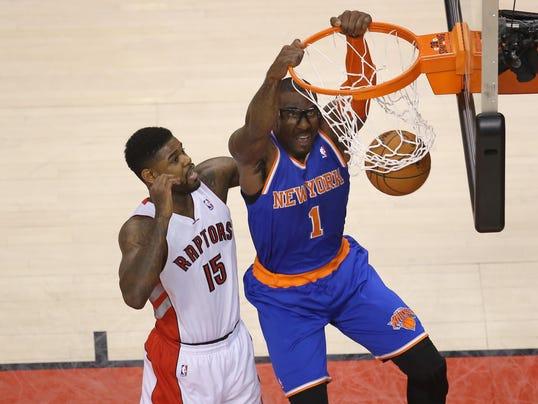 Knicks Amar'e Stoudemire at Toronto April 2014