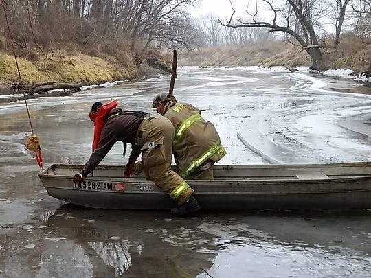 The Winterset Fire Department helped save Sam, a 13-year-old