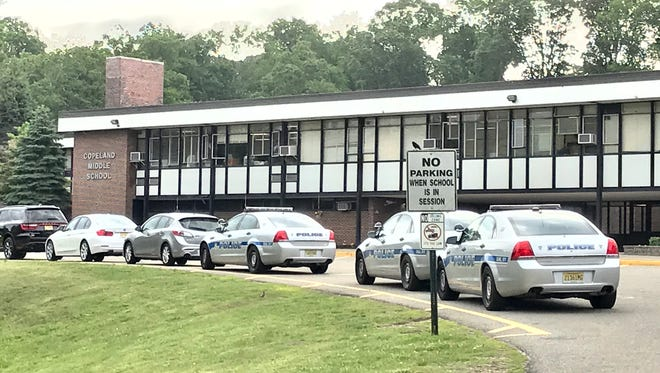 Police presence causes concern at Copeland Middle School in Rockaway on June 15.