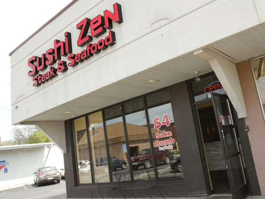 This building houses the popular restaurant Sushi Zen.