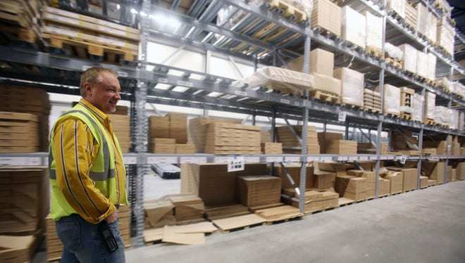 Canton Ikea manager Matt Hunsicker shows where the  store is expanding 44,000 square feet bringing the total square footage to 355,000.