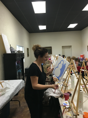 Uncorked Art offers people the chance to paint their own piece of art while sipping on local wine.
