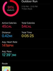You can view workouts inside the Activity app on the