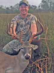 Jeff Amidon killed this nice buck while hunting on a Nueces County ranch.