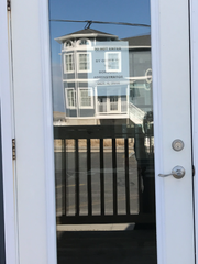 The office door to Lavallette's lifeguard headquarters