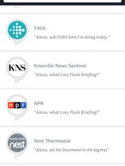 The News Sentinel skill in the Amazon Alexa app.