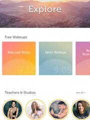 A screenshot of the Yoga Wake Up app.