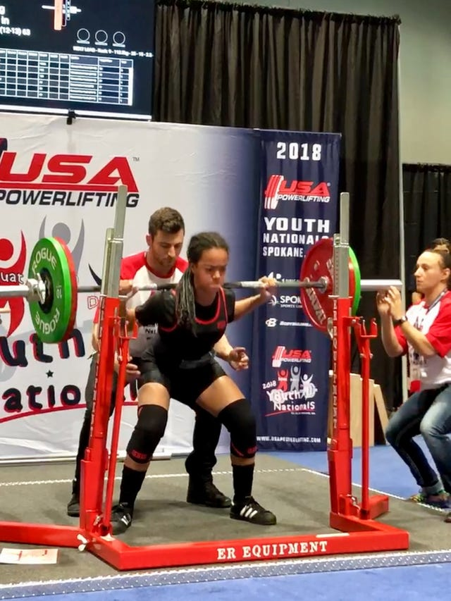 Parsippany powerlifter Diana Yturbe breaking records at age 13