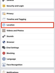 You can turn off location tracking on Facebook via settings.