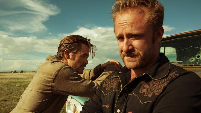 """Chris Pine, left, and Ben Foster portray brothers in """"Hell or High Water."""""""