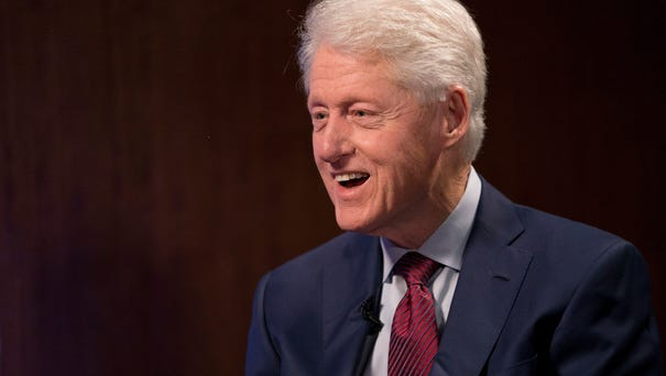 Former president Bill Clinton sits down with USA...