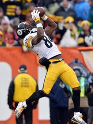 Pittsburgh Steelers wide receiver Antonio Brown (84)