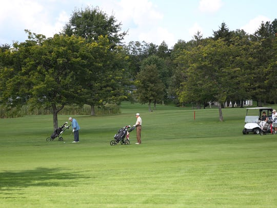 Many golfers came out to play Thursday morning at the Webster Golf Course, just a short distance from David D'Angelantonio's backyard.