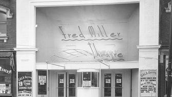 The Frederick C. Miller Memorial Theatre, known as the Fred Miller, gets ready for its January 1955 opening in this undated photo.