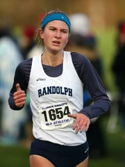 Randolph's Meredith Finley comes in to the finish at