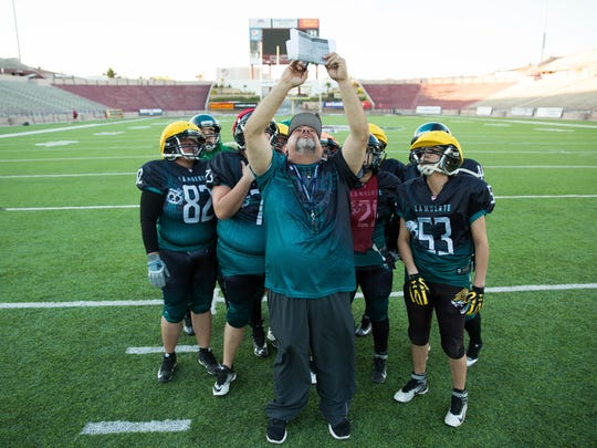 La Muerte de Las Cruces Head Coach Billy Avalos goes