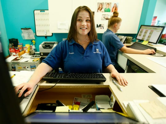 Caitlin Bethanis, Little Egg Harbor, works the office at Ryan's Servicenter in Lacey.