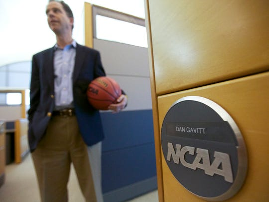 Dan Gavitt, the Vice President of NCAA's men's basketball tournament, in his offices in Indianapolis,  March 8, 2013.
