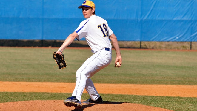 Erwin graduate Hunter Boydston is a pitcher for the Mars Hill baseball team.