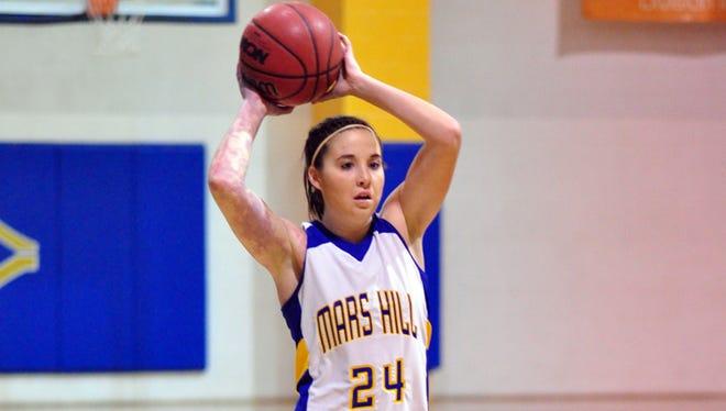 McDowell alum Autumn Ward continued her basketball career at Mars Hill after graduating high school.