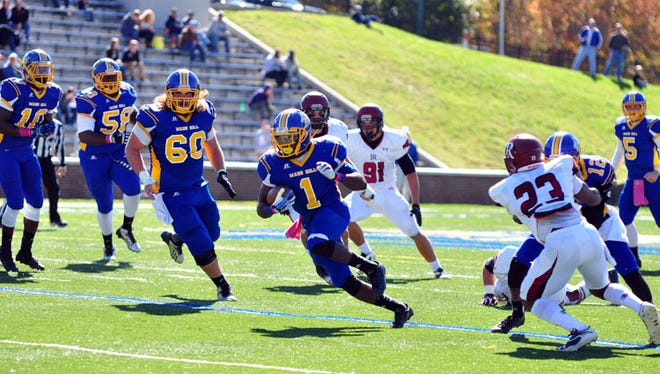 East Henderson graduate Shaikel Davis led the South Atlantic Conference in rushing (1,254 yards) a year ago.