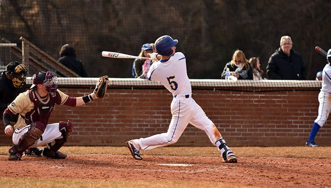 Mars Hill's Evan Rogers. The Lions will host baseball camps in May and June.