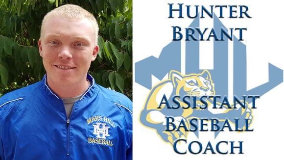Erwin graduate Hunter Bryant is a new assistant baseball