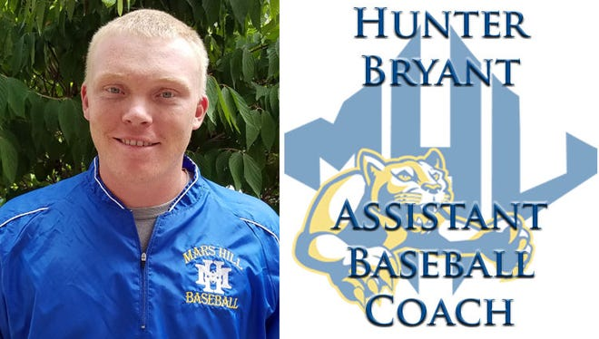 Erwin graduate Hunter Bryant is a new assistant baseball coach at Mars Hill.