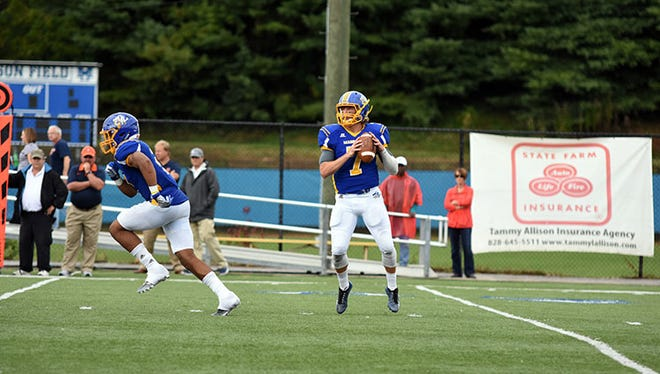 Erwin alum Austin Brown is a quarterback for the Mars Hill football team.