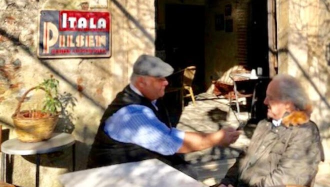 An interview with Bar Vitelli's owner at the Sicilian setting in The Godfather.