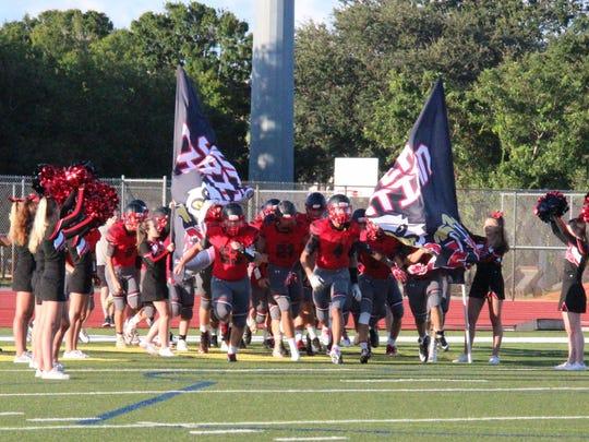 Jupiter Christian School Varsity Football Team players