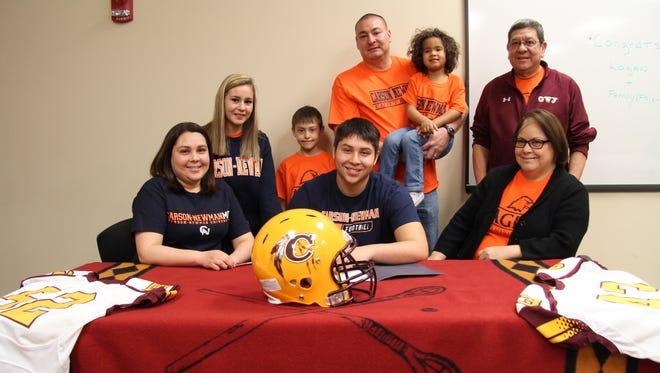 Cherokee senior Logan Teesateskie has signed to play college football for Limestone (S.C.).