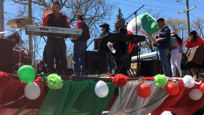 Hundreds turned out for the annual Cinco de Mayo parade  in southwest Detroit, Sunday, May 7, 2017.
