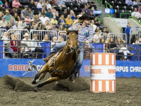 Buc Days Rodeo at the American Bank Center on Thursday,